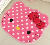 House mat Hello Kitty cartoon mat girls dot doormat kids circular carpet pink mats