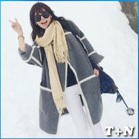 New Arrival Europe Brand Winter Coat Wool Breasted Wool Cashmere Jacket Woollen Women Overcoat