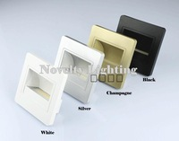 Free shipping 1.5W LED embedded wall lamp led footlight stairs step led corner light for decorative lighting 10pcs/lot