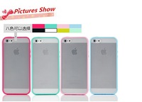 Mobile Phone Accessories Free Shipping High Quality TPU+PC Transparent edge Case Cover For iphone 5s