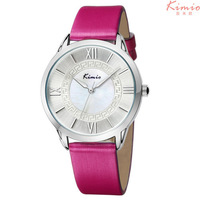 2014 Hot!KIMIO Brand New Fashion Luxury Ladies Watch, Waterproof, High Quality Leather Women Quartz Watch, Free Shipping