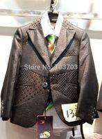 children boy 2014 Wedding suits Formal Party Tuxedo suit Groom brown Jacket+Pants+bow tie/necktie+vest+Dress shirt 5pcs set#8023
