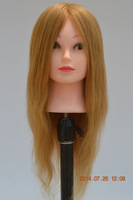 "Free Shipping Mannequin Dummy 20 ""100% Human Hair Training Mannequin Head With Hair"