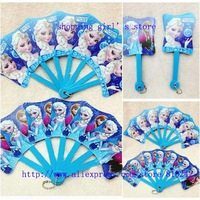 Free shipping 24pcs/lot Frozen Fans/baby girls princess Elsa Anna folding fan/ kids Snow Queen Summer hand fan for Party Gift