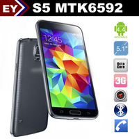 "S5 1:1 G900 5.1"" MTK6592 Octa Core 8GB ROM Android 4.4 Waterproof IP67 16.0MP Real Camera Original Logo Free Shipping"