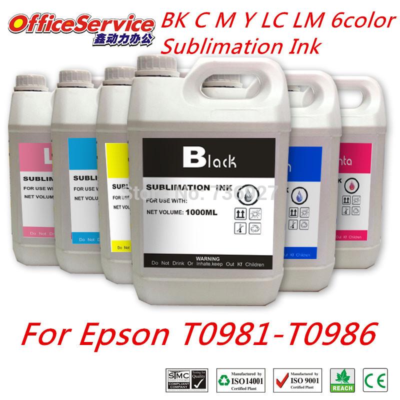 Heißer verkauf universal sublimationstinte für epson drucker, anzug für epson t0981-t0986 tintenpatronen, bulk ink für glasdruck