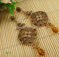 2014 Fashion earrings six color drop long earrings  for women        Free shipping