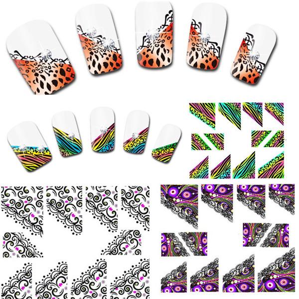 Наклейки для ногтей Charles's Store 30sheets 3D DIY xf1300/1321 XF1300-1321 triangle watercolor memo sticker 30sheets