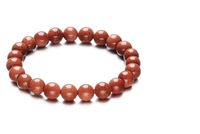 F08702 Unisex Natural Gold Sandstone Bracelet 6MM Round Loose Beads Bracelet + Free shipping