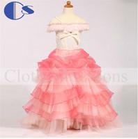 Kid Flower Girl Dress 80cm For Baby Cupcake Pageant Princess Infant Toddler Girl Gown Vestido De Festa Infantil Baby Girls Dress