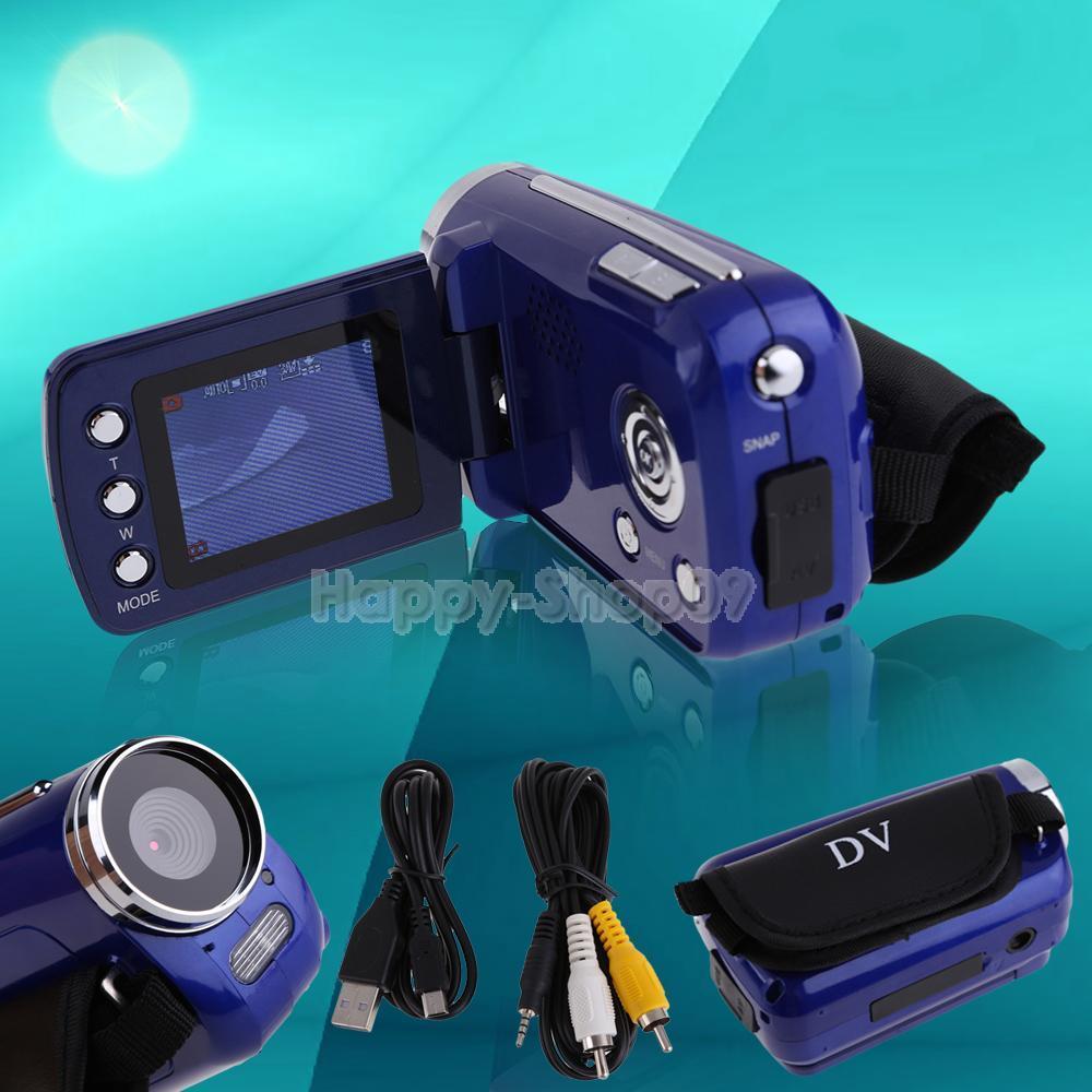 BUH9 1 8inch TFT LCD HD DV Camcorder Digital Video Camera Recorder 4x Zoom Blue