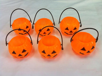 6 Assorted Halloween Bat Spider Spook Party Pumpkin Candy Bowls Bar Club Disco Holiday Decorations Kids Toys Supplies 6pcs/pack
