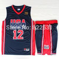 John Stockton 1992 Dream Team Jersey, 1992 USA Dream Team 12 John Stockton Basketball Jersey and Short