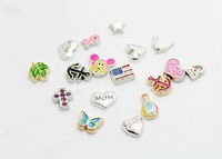 2014 new Design mixed model floating charms DIY charms for necklace & bracelets charms accessories glass Locket charms