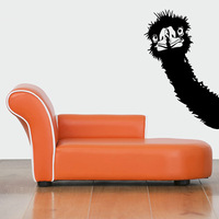 Wholesale Free shipping Wall stickers Home Decor PVC Vinyl paster Removable Art Mural Animal stickers ostrich  T-036