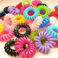 Wholesale - Hot Candy Colored Telephone Line Elastic Hair Bands/Hair ties/Hair ring/hair wear/Hair Accessories