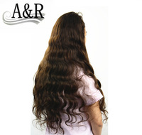 free shipping hot sale good quality human brazilian hair lace front wig