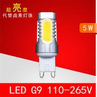 Le for dg 9 110-265v crystal lamp 5w g9 led light beads led g9 transformer