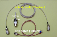 Free  Shipping ! (10 pcs/lot) Braided Cable for  PT100  Probe TS120