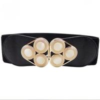 2014 New Fashion Women's Crystal elastic Belt Cummerbunds All match Black High Quality hot for sale