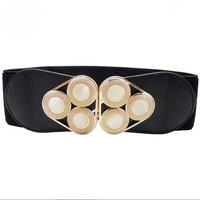 2014 New Fashion Women's Crystal elastic Belt Cummerbunds All match Black High Quality hot for sale