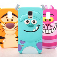 Free Shipping Soft Silicone For Samsung Galaxy S5 SV case Monster university Sulley Cat cell phone cases covers