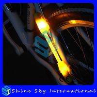 Multifunctional fiber flare bike lights bike decoration lights 2 pcs/lot Free Shipping