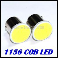 100pcs High power S25 1156 COB 12LED Chip 12Chips Car LED Reverse Lights BA15S Turn Signals Light P21W Tail Lamps White DC12V