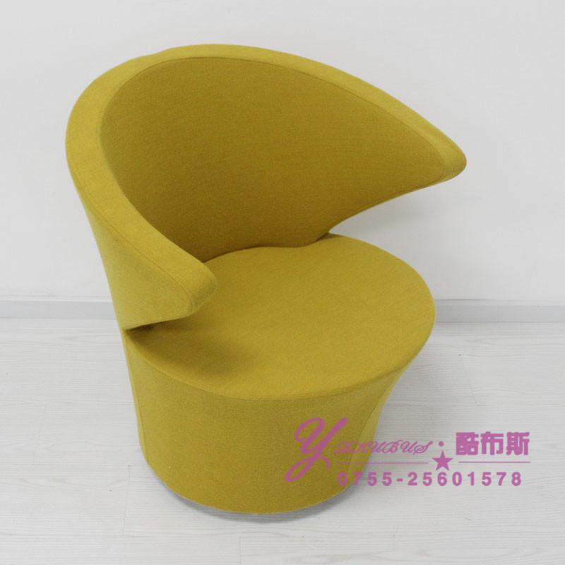 Cool Booth focus chair Eero Aarnio arm chair soft bag sofa fabric chair casual cafe chair(China (Mainland))