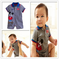 2014 New Arriving baby romper mickey cartoon modelling fashion boys clothes boys romper cotton children clothing 3pieces/lot