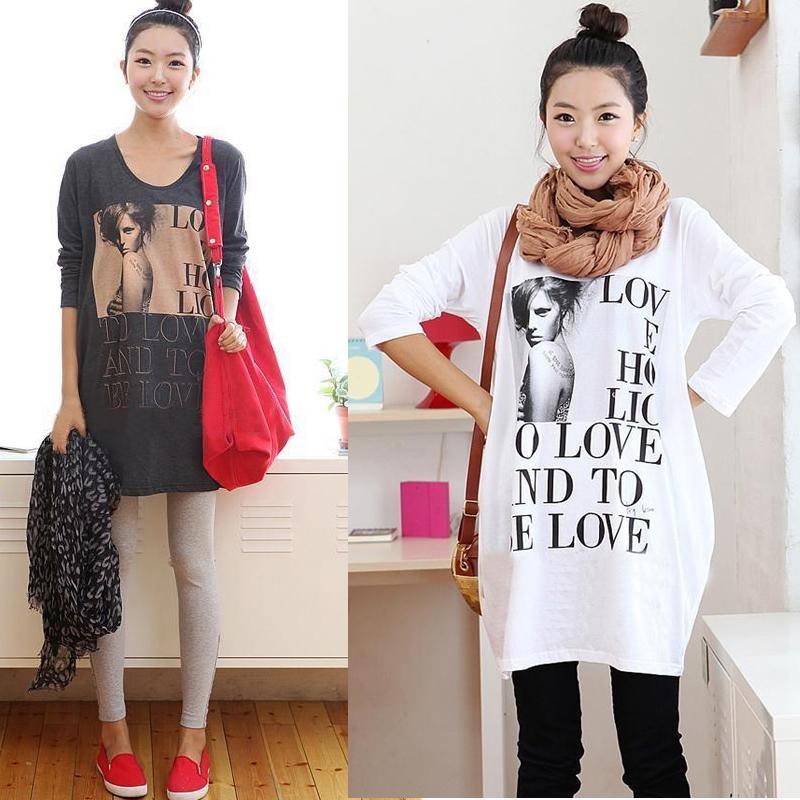 2014 Trend mode umstandsmode mutterschaft oben sweatshirt Herbst und Winter mutterschaft t- shirt basic shirt kostenloser versand