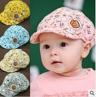 G015 The new children's hat Infants and young children head baseball cap Men and women baby duck tongue sun hat