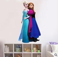 New 2014 Hot Selling 5 Choice Frozen Cartoon Princess Queen 3D Window Wall Sticker Viny Mural Decal Kids Home Decor