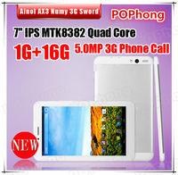 Ainol AX3 Sword 3G tablet pc 7inch IPS MTK8382 Quad Core 1.3GHz 1GB RAM 16GB GPS FM Bluetooth 5.0MP Camera Phone call