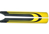 KDS 1193-3 325mm CF Main Blades 325 MM carbon fiber main blade for kds450 trex 450 v2 set (yellow) gift