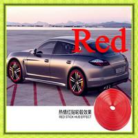 Free shipping 2014 New car styling Rim care,car motor wheel rim care,rim protectors,car protection use/red plasti dip