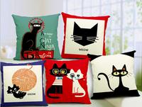 decorative cushion covers High Quality 100% Cotton & Linen Pillow Cover Cushion Case, Cute animals series cushion cover