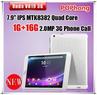 Onda V819 3G tablets 7.9 inch mini pad MTK8382 Quad core IPS 1280x800 1GB Ram 16GB GPS Bluetooth WCDMA Android 4.2