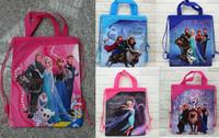1x Frozen PRINCE PRINCESS QUEEN school Toy Ballet carry Drawstring backpack hand bag 27.5*33cm