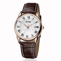 EYKI Luxury Jewelry Brand New Fashion Business Casual Watches Men Sport Waterproof Leather Quartz Watch