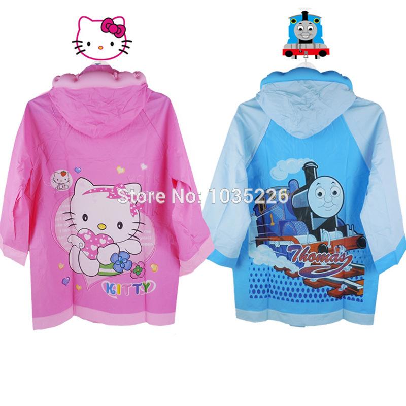 Free Shipping Rain Coat children Raincoat Rainwear/Rainsuit,Kids Waterproof hello kitty Raincoat Children's cartoon poncho(China (Mainland))