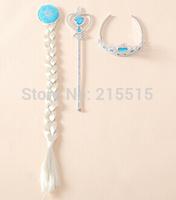 Wholesale Girls Frozen Accessories Frozen Crown + Wand + Girls Hair sets Frozen Elsa coronation party Tiaras wand and hair