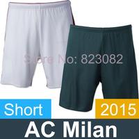 AC Milan Shorts 2015 AC Milan Home Away Jersey Shorts 14 15 AC Milan Football Shorts Free Shipping Top Thailand Quality