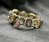 vintage crystal leopard women bracelet luxury design charming bracelet for women 2014 jewelry