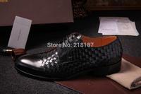 Pure manual weaving small leather men's dress shoes fine workmanship high-end business men leisure shoes men's shoes