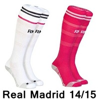 New arrival 14/15 Real Madrid Home away Sock,best quality Original Soccer Sock,Ronaldo,Bale.Isco,Modric,Benzema,Kroos,James