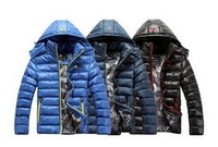 Free shipping! on sale 2014 brand men's Sport Hoodie Winter down jacket active cotton-padded warm coat Plus Size L-XXXL coat