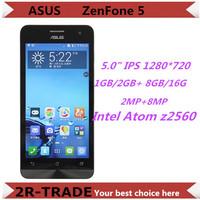 "Origina zenfone 5 WCDMA Smart phone Intel Atom z2560 / z2580 Dual core Android 4.3  5"" IPS 1280x720 RAM 1GB ROM 8G 8MP"