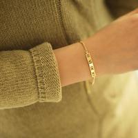 Fashion Design Gold Silver 2 Corlors Bracelet & Bangle Custom Chain Bracelet Women Jewelry