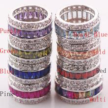 Ruby Garnet Morganite Peridot Aquamarine Pink Kunzite Blue Sapphire Amethyst Topaz 925 Sterling Silver Ring Size 6 7 8 9 10 11